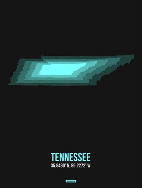 Wall Art - Digital Art - Map Of Tennessee by Naxart Studio