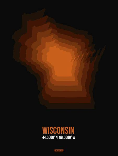 Wisconsin Wall Art - Digital Art - Map Of Wisconsin by Naxart Studio