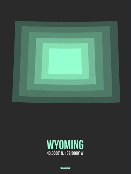 Wall Art - Digital Art - Map Of Wyoming  by Naxart Studio