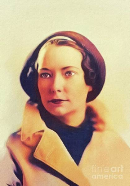 Wall Art - Painting - Margaret Mitchell, Literary Legend by John Springfield