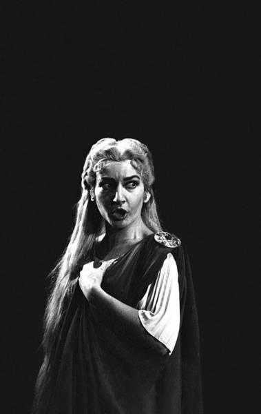 Photograph - Maria Callas by Gordon Parks