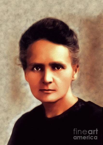 Physics Painting - Marie Curie, Famous Scientist by John Springfield
