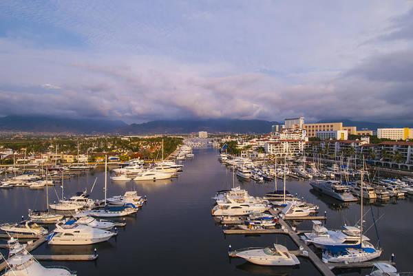 Luxury Yacht Photograph - Marina Vallarta, Puerto Vallarta, Mexico by Anne Rippy
