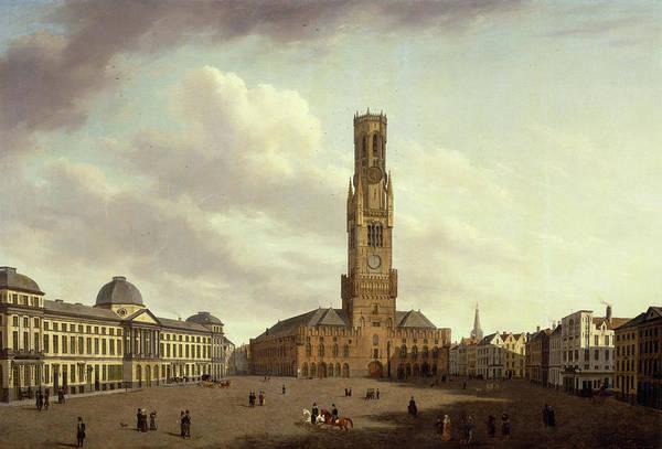 Wall Art - Painting - Market In Bruges by Auguste Van de Steene