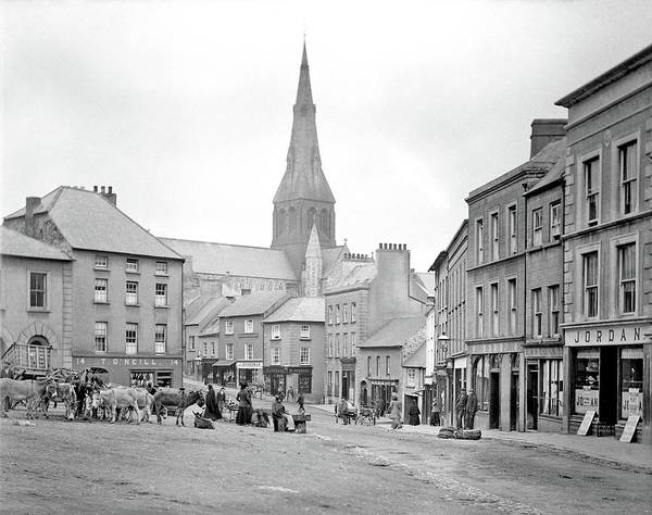 Painting - Market Square, Enniscorthy, Ca. 1892 by Celestial Images