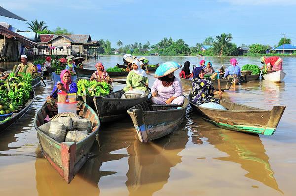 Real People Photograph - Martapura And Barito River Borneo by Barry Kusuma