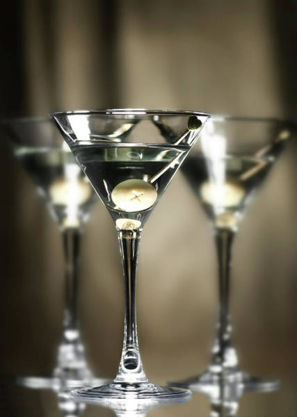 Bar Counter Photograph - Martini by Svetikd