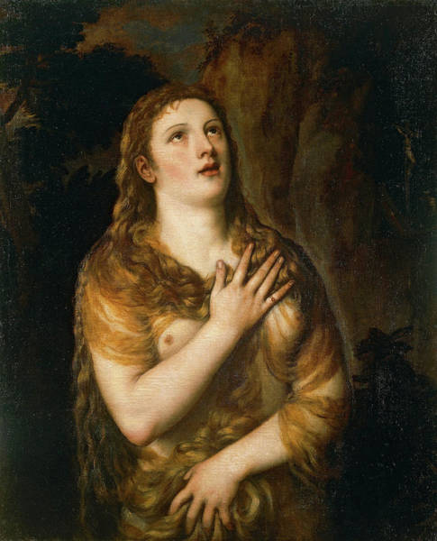 Virtue Painting - Mary Magdalene by Titian