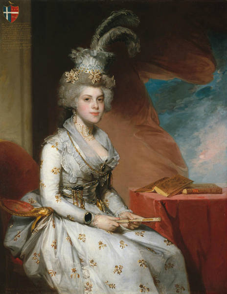 Wall Art - Painting - Matilda Stoughton De Jaudenes by Gilbert Stuart