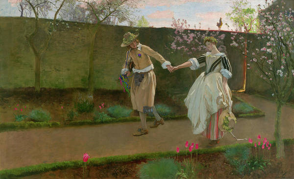Wall Art - Painting - May Day Morning by Edwin Austin Abbey