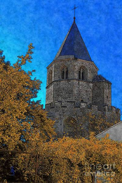 Digital Art - Medieval Bell Tower 6 by Jean Bernard Roussilhe