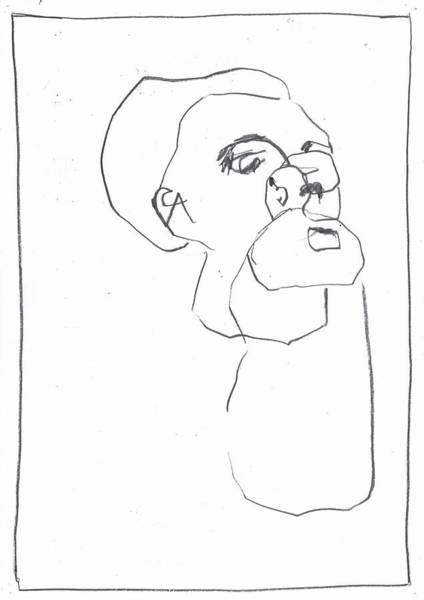 Drawing - Memory Man by Artist Dot