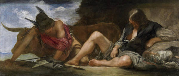 Wall Art - Painting - Mercury And Argus by Diego Velazquez
