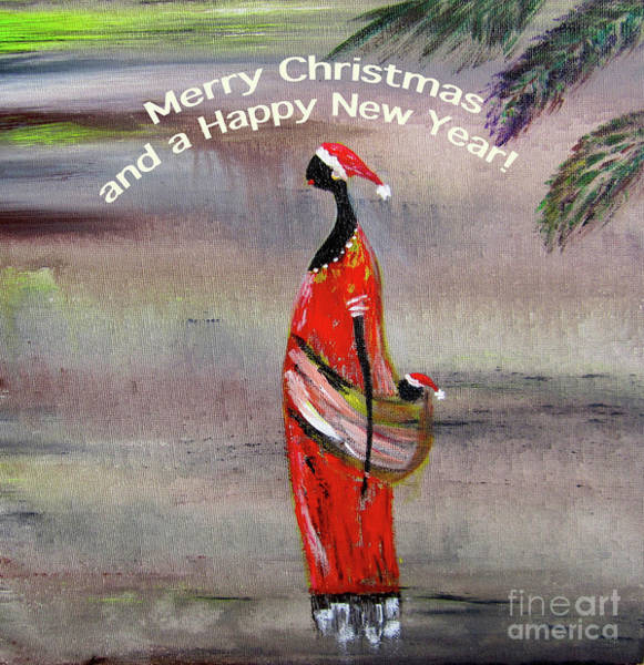 Ghana Painting - Merry Christmas  by Inessa Williams
