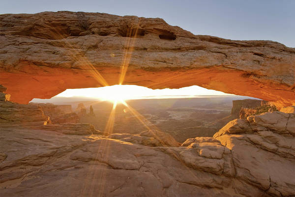 Natural Arch Photograph - Mesa Arch At Sunrise by Witold Skrypczak