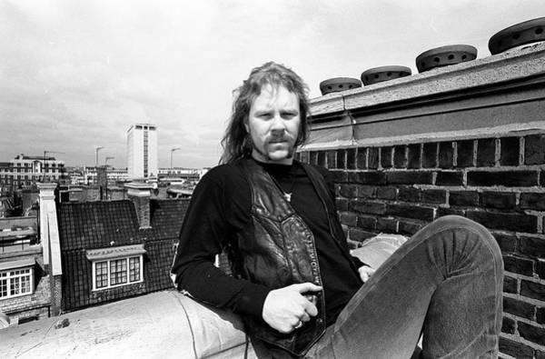 Photograph - Metallica James Hetfield London April by Martyn Goodacre