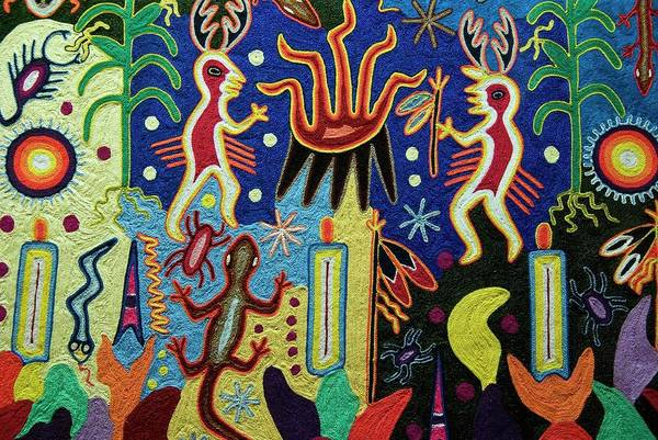 Wall Art - Painting - Mexico.mexico City.national Museum Of Anthropology. Huichol Art. by Album
