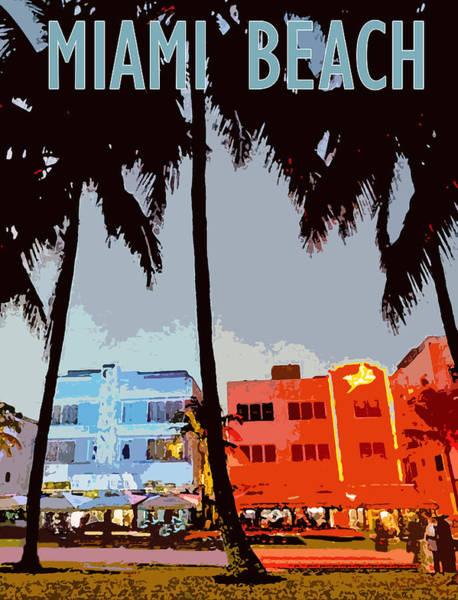 Drive Digital Art - Miami Beach by Long Shot