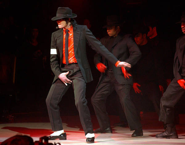 Photograph - Michael Jackson Onstage At The Dnc by New York Daily News Archive