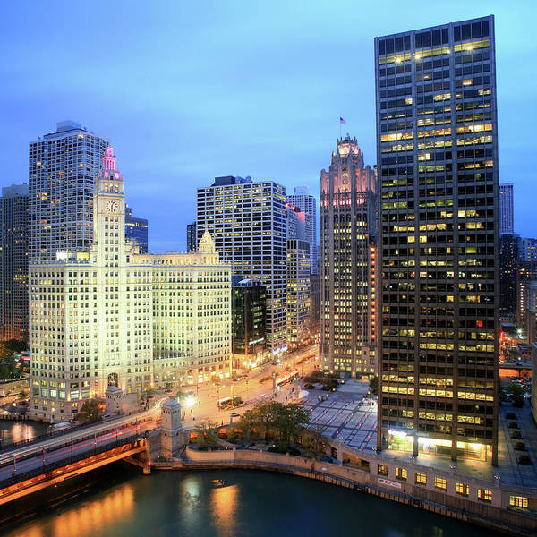 Square Mile Wall Art - Photograph - Michigan Avenue And Wrigley Building by Hisham Ibrahim