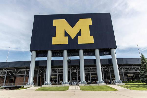 Wall Art - Photograph - Michigan Stadium M  by John McGraw