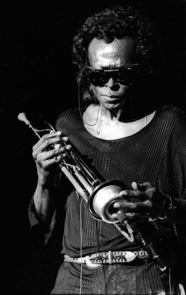 Photograph - Miles Davis Live At North Sea Jazz by Paul Bergen