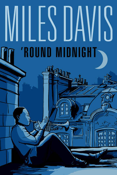 Wall Art - Digital Art - Miles Davis - Round Midnight   by David Richardson