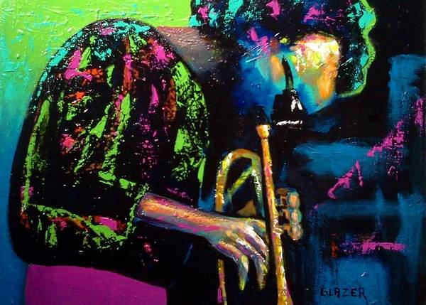 Wall Art - Painting - Miles Davis by Stuart Glazer