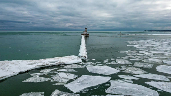 Photograph - Milwaukee Breakwater Lighthouse by Randy Scherkenbach
