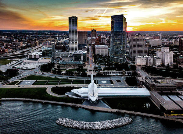 Photograph - Milwaukee Sunset by Randy Scherkenbach