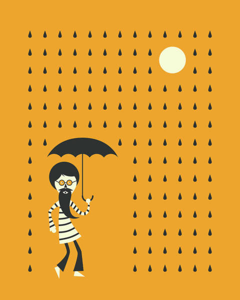 Wall Art - Digital Art - Minimal Rain by Jazzberry Blue