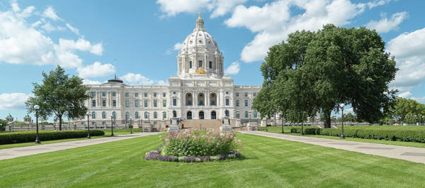 Wall Art - Photograph - Minnesota State Capitol, Upper Midwest by Panoramic Images
