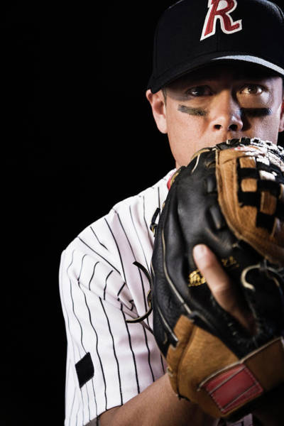 Baseball Pitcher Photograph - Mixed Race Baseball Player Pitching by Hill Street Studios