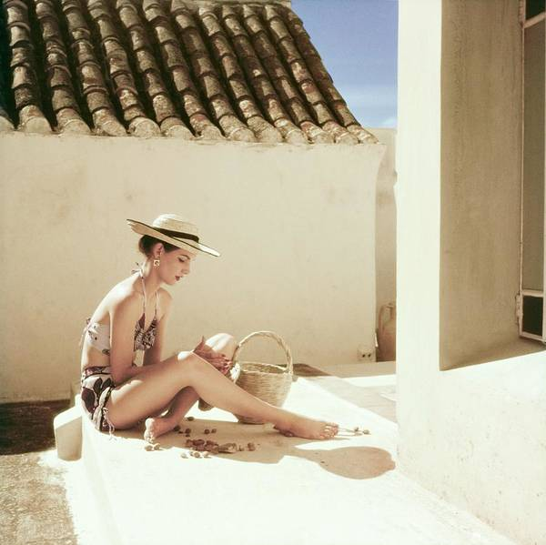 Wall Art - Photograph - Model In A Calypso Bikini by Henry Clarke