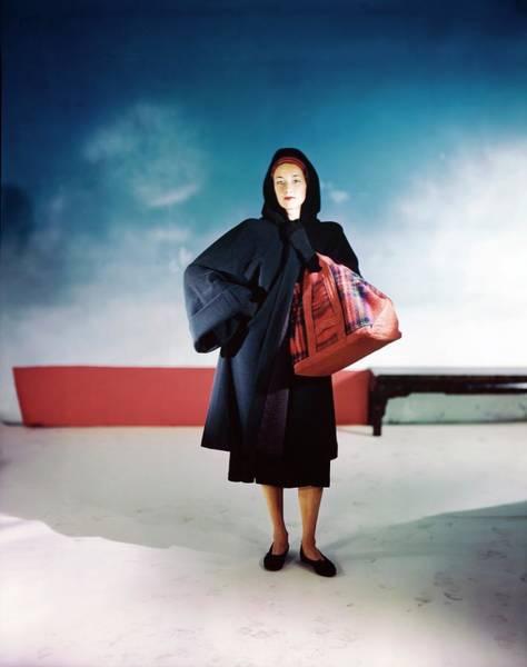 Photograph - Model In A John Frederics Ensemble by Horst P. Horst