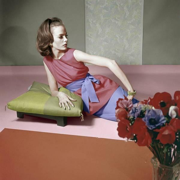 Wall Art - Photograph - Model In A Larry Aldrich Ensemble by Horst P. Horst
