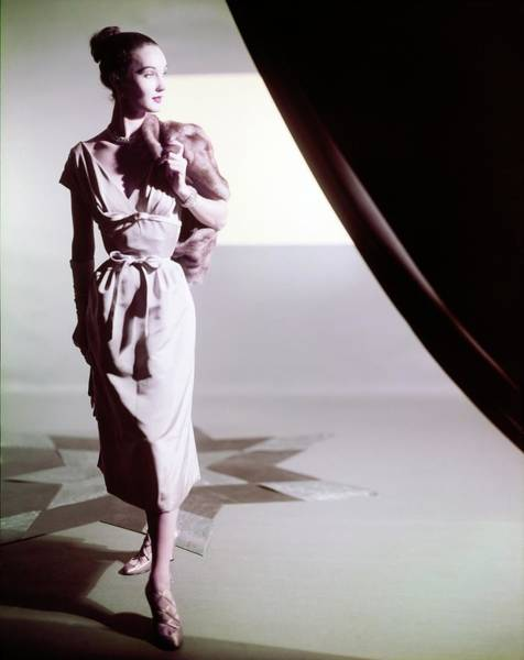 Photograph - Model In A Mollie Parnis Dress by Horst P. Horst
