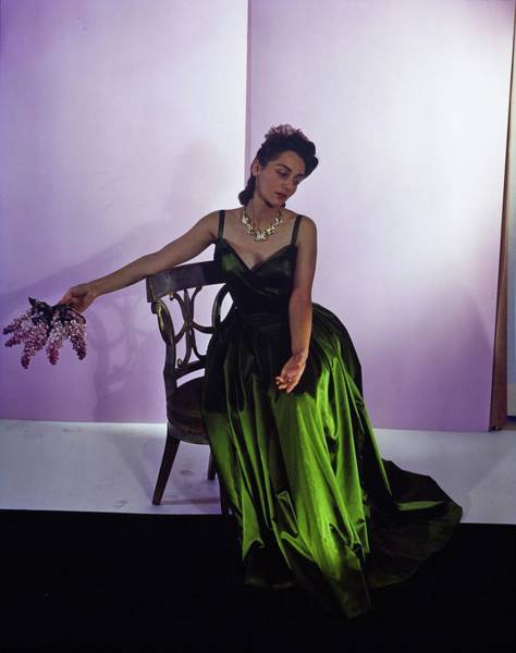 Photograph - Model In A Nettie Rosenstein Gown by Horst P. Horst