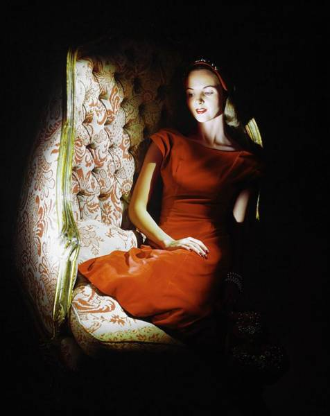 Red Cross Photograph - Model In Lord & Taylor by Horst P. Horst