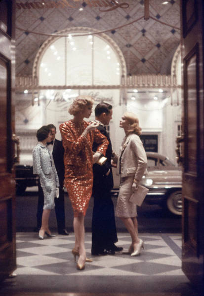 Brocade Photograph - Models At The Lunt-fontanne Theater by Gordon Parks
