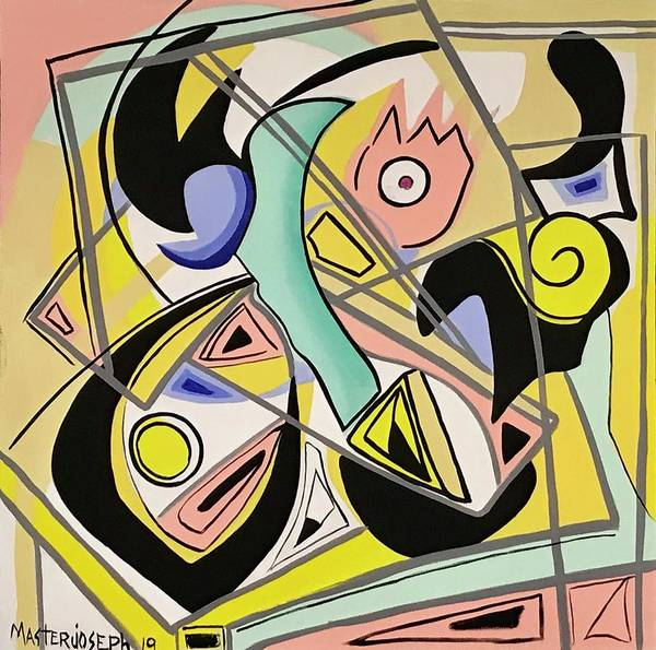 Wall Art - Painting - Modern Abstract  by Anthony Masterjoseph