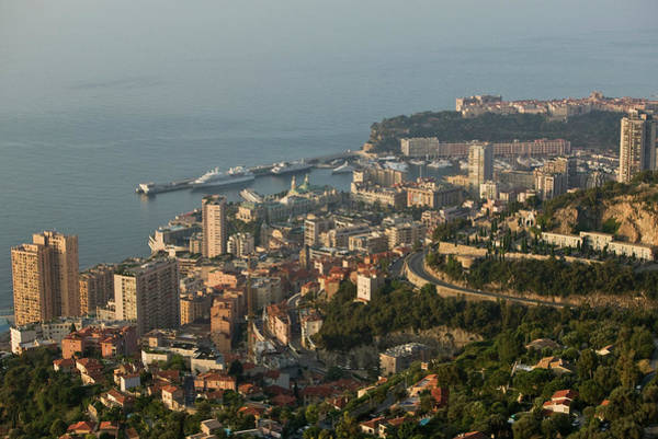 Monaco Photograph - Monaco Cityscape, Elevated View by Christoph Rosenberger