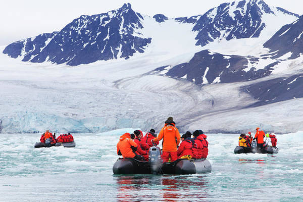 Crisis Photograph - Monaco Glacial Ice In Spitsbergen by Anna Henly