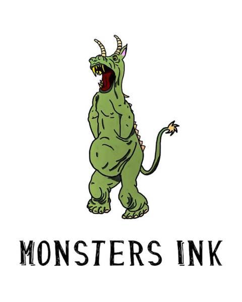 Digital Art - Monsters Ink by John Haldane
