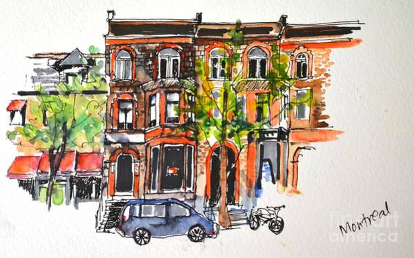 Painting - Montreal #1 by Betty M M Wong