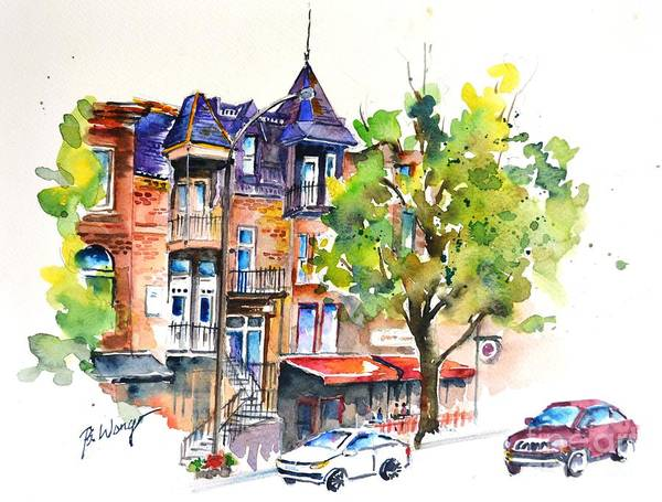 Painting - Montreal #2 by Betty M M Wong