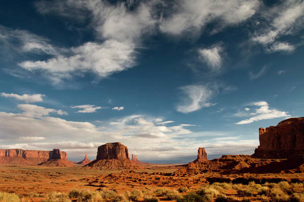 The Mitten Photograph - Monument Valley With Dramatic Clouds by Russell Burden