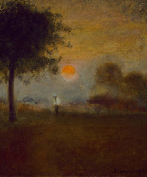 Wall Art - Painting - Moonrise by George Inness
