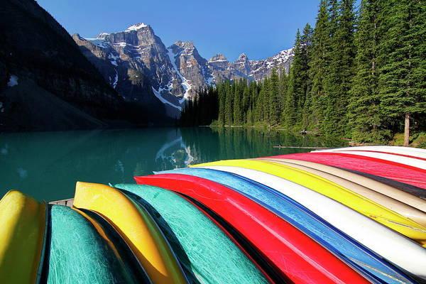 Wall Art - Photograph - Moraine, Lake, Banff Nationalpark by Hans-peter Merten