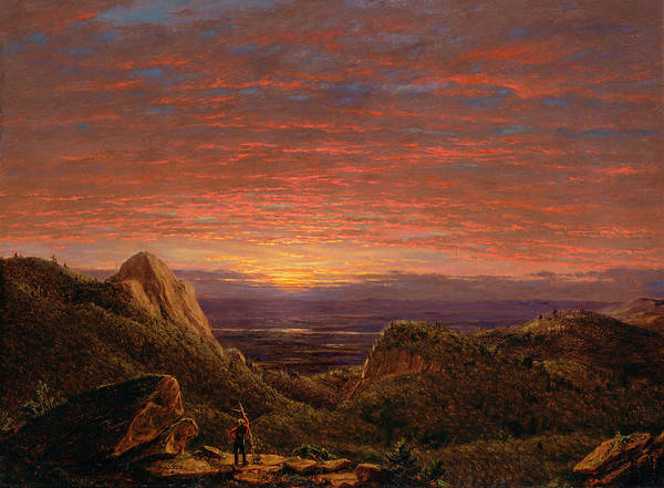 Hudson Valley Wall Art - Painting - Morning, Looking East Over The Hudson Valley From The Catskill Mountains by Frederic Edwin Church